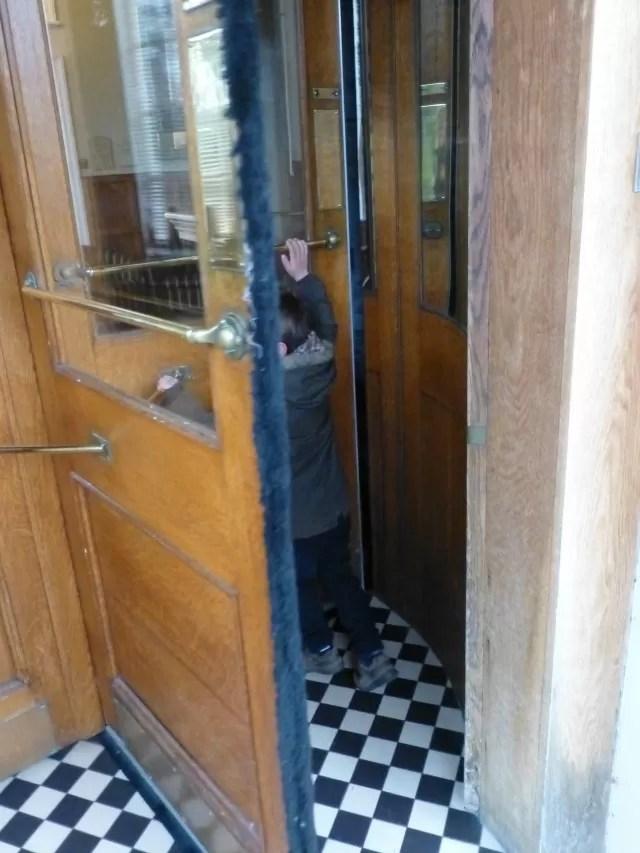 rotating hotel doors