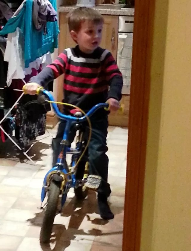 bike riding inside