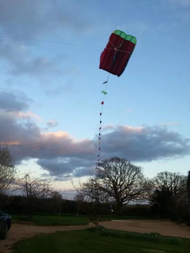 Flying a pocket kite