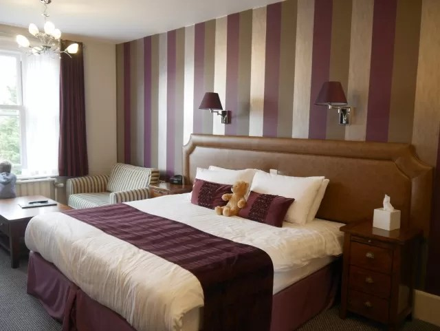 bedroom at lincombe hall hotel