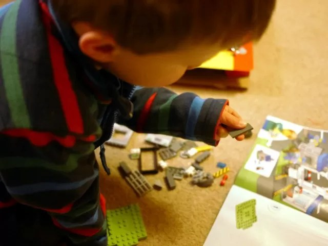 building his first lego