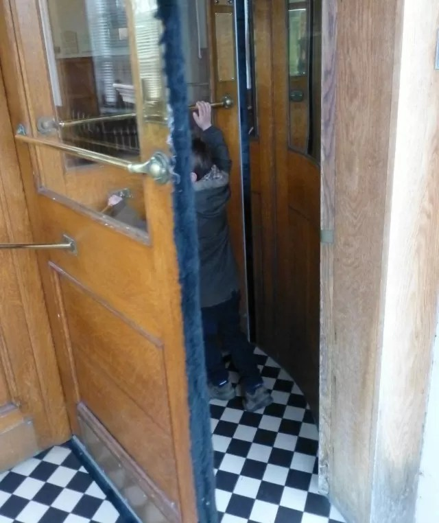 rotating hotel door fun