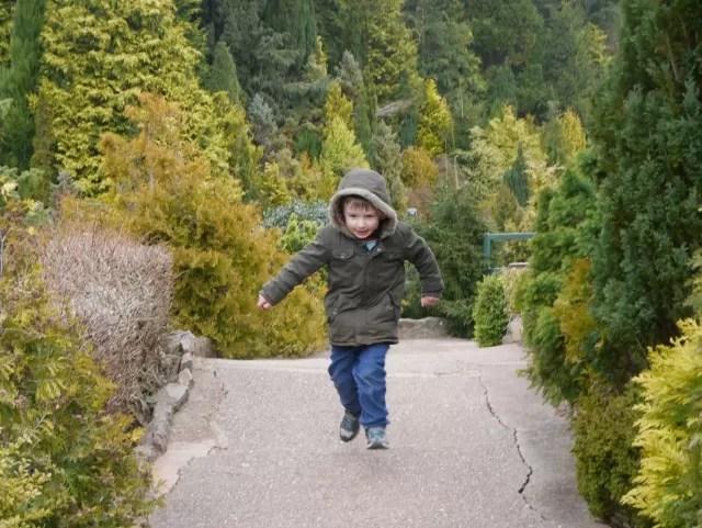 running child at Babbacombe