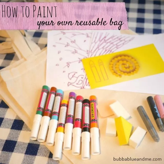 How to paint your own reusable bag - Bubbablue and me