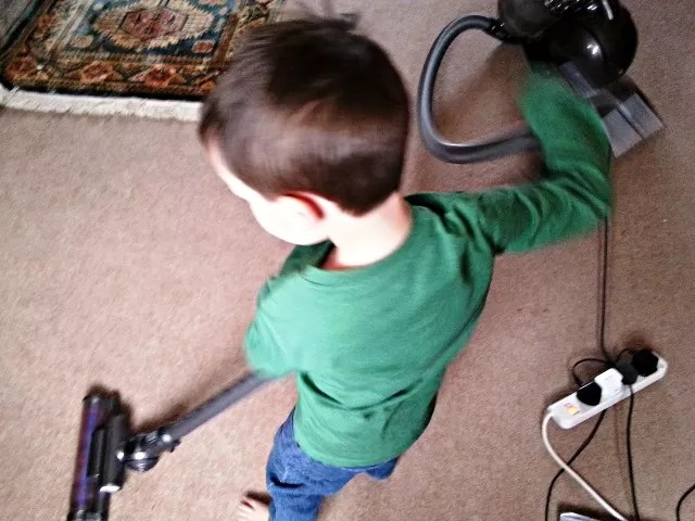 doing the vacuuuming - children's chores