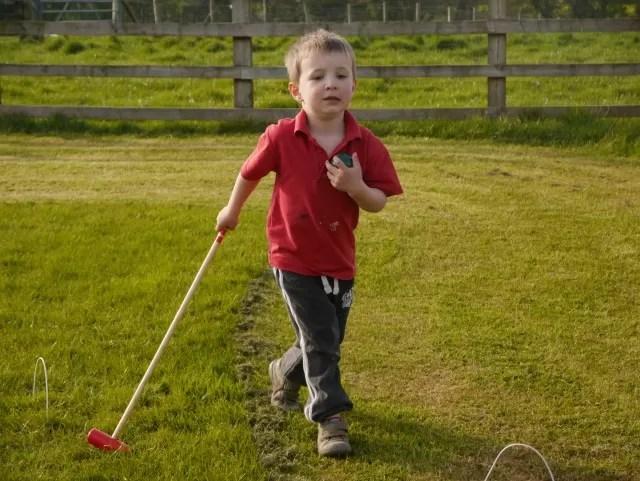 hogging the croquet ball