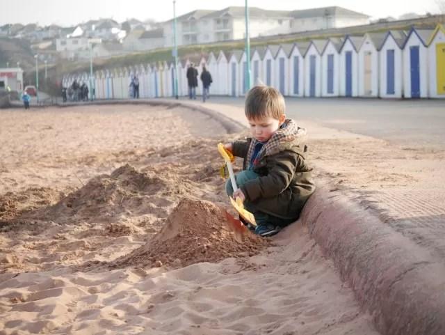 making a sand mound