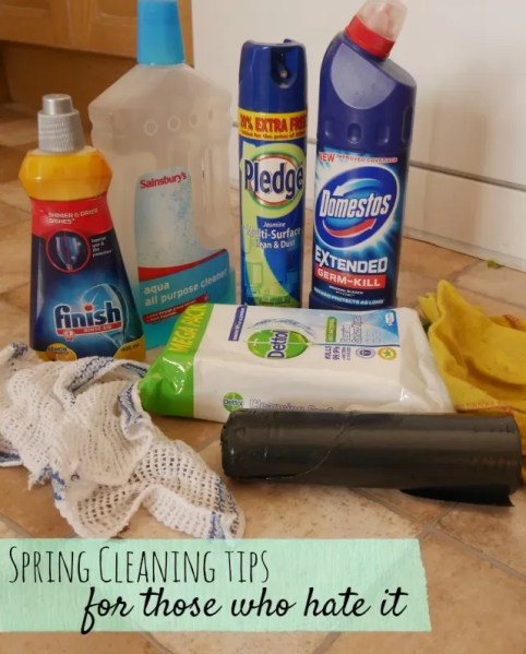 spring cleaning tips for those who hate it - Bubbablueandme