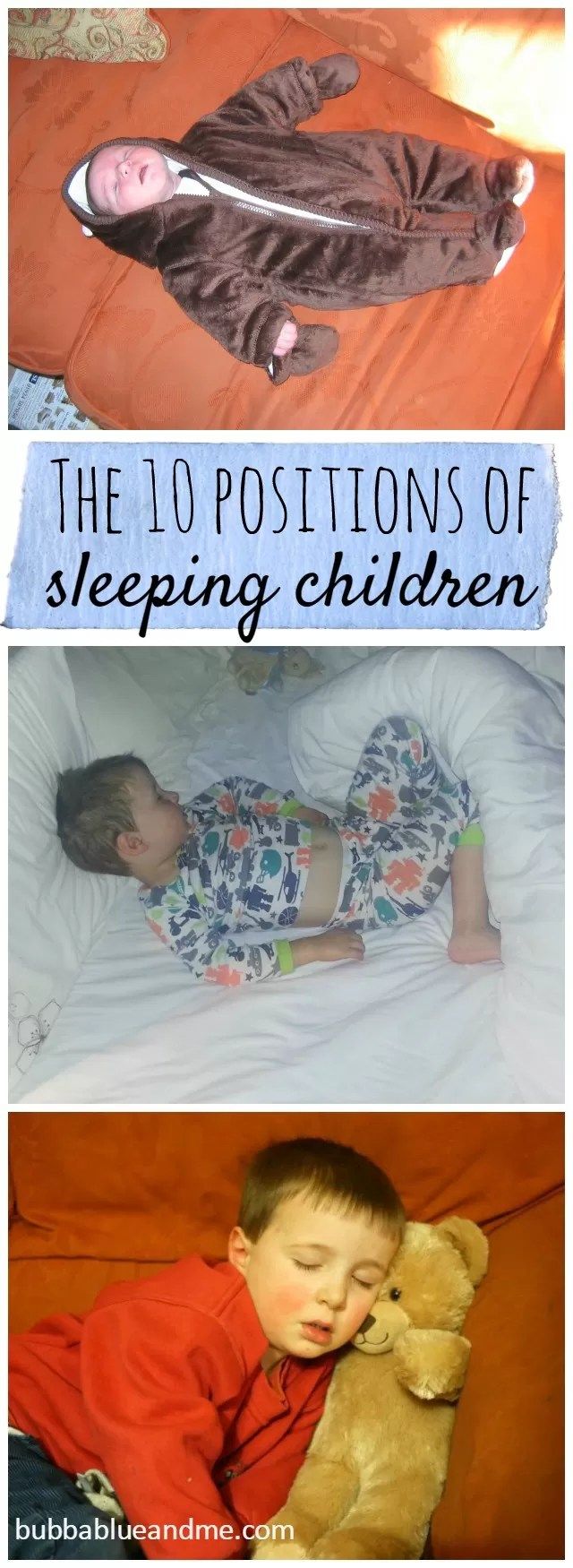 10 sleep positions of sleeping children - Bubbablue and me