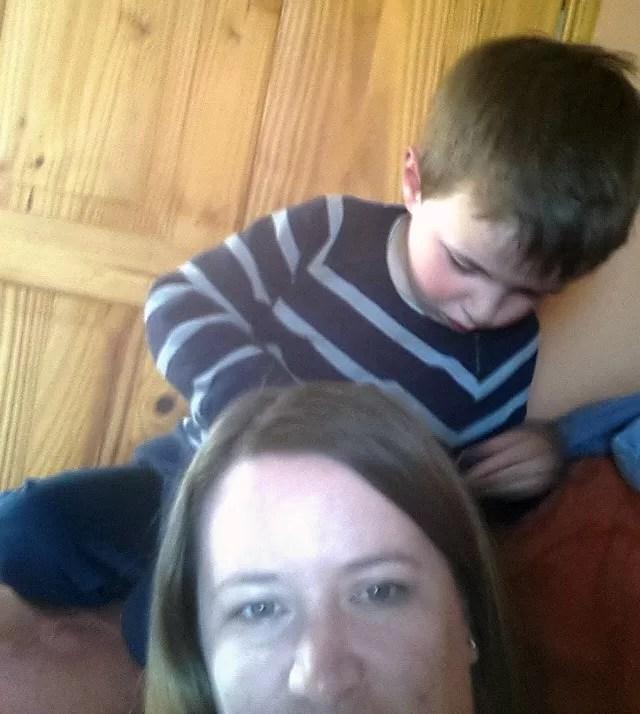 preschooler role playing a hairdresser