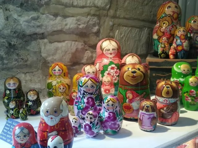 Russian dolls in Burford shop