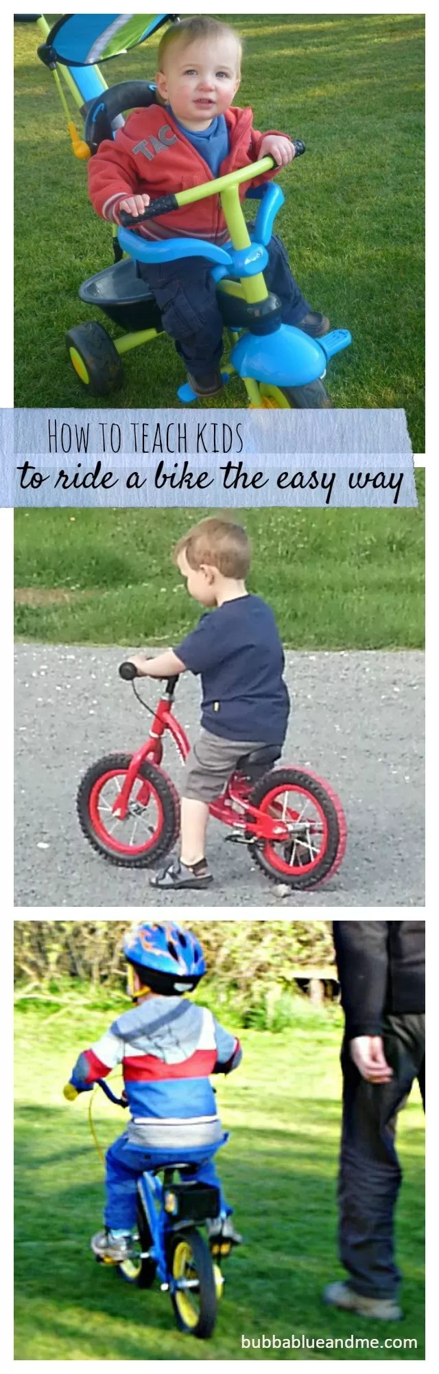 how to teach children to ride a bike the easy and tumble free way - Bubbablueandme
