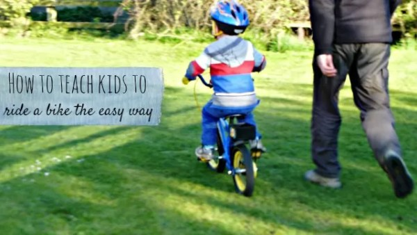 how to teach kids to ride a bike - Bubbablueandme