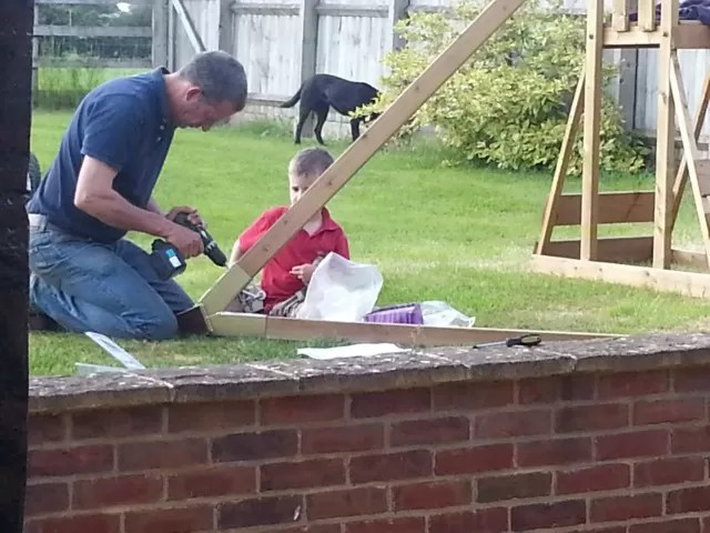 building the Dunster House climbing frame