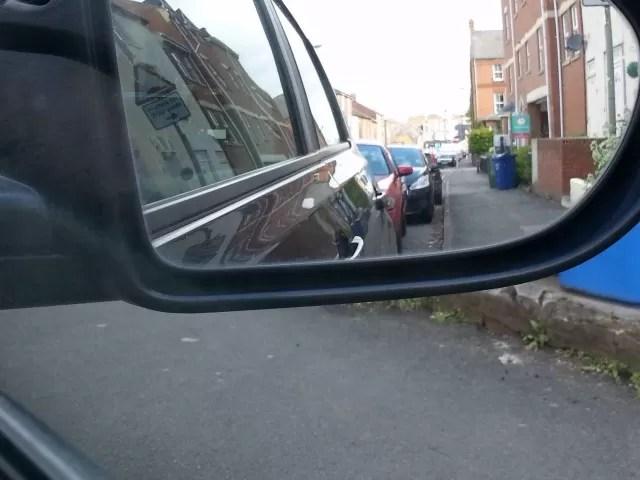 example of poor parallel parking