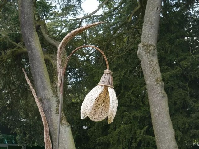 Crocus flower sculpture at Trentham Gardens