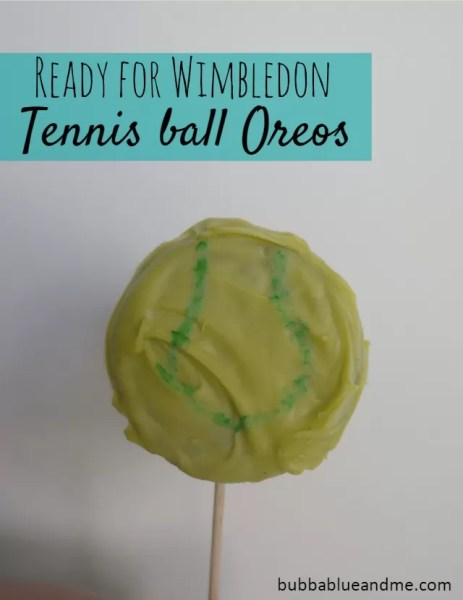 Ready for Wimbledon tournament - Tennis ball Oreos Bubbablueandme