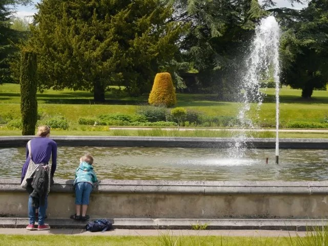 Trentham Gardens formal gardens waterfall