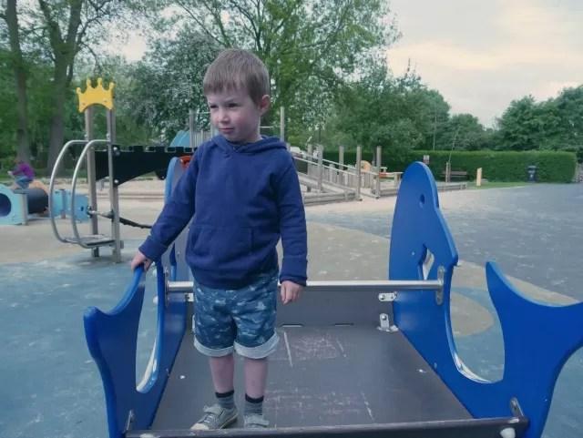huge playground at Stratford  upon avon