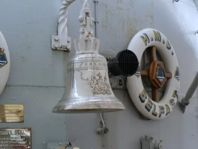 ships bell at HMS Belfast
