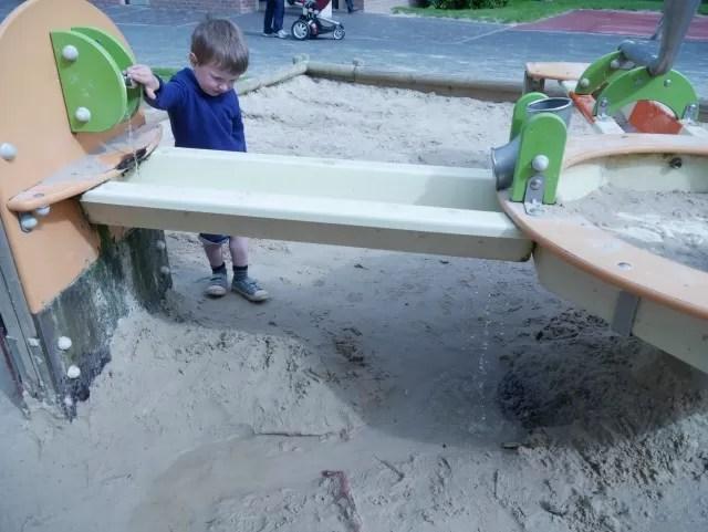 water play at Stratford park