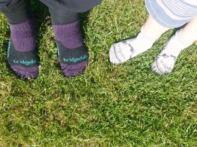 wearing bridgedale socks