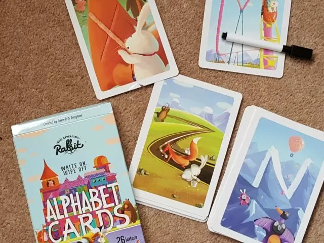 Appealing rabbit alphabet cards