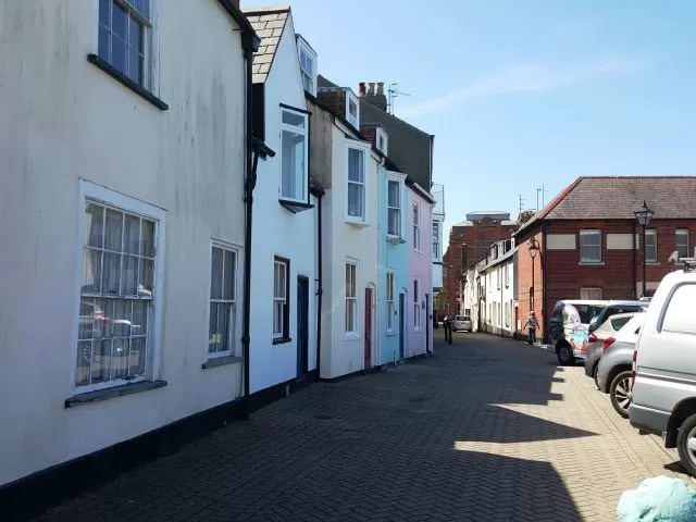 Colourful houses at Weymouth Harbour