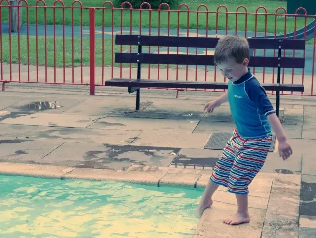 Dipping toes in the paddling pool