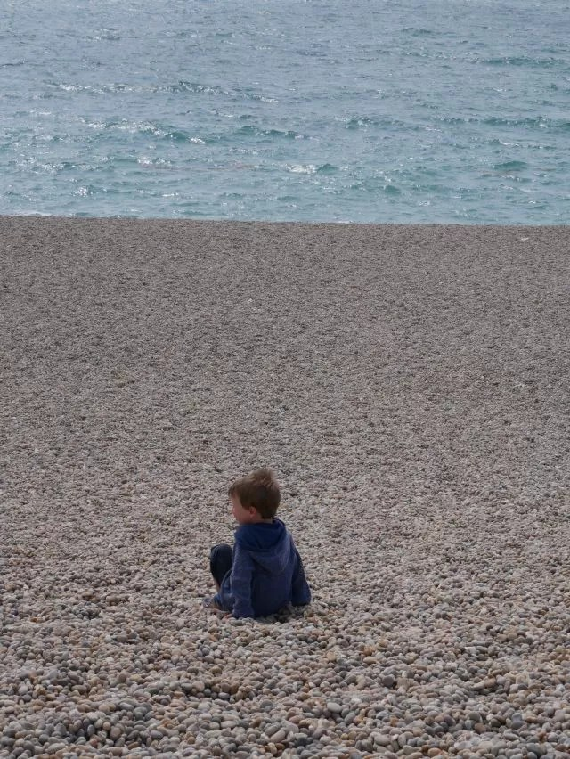 Resting at Chesil Beach