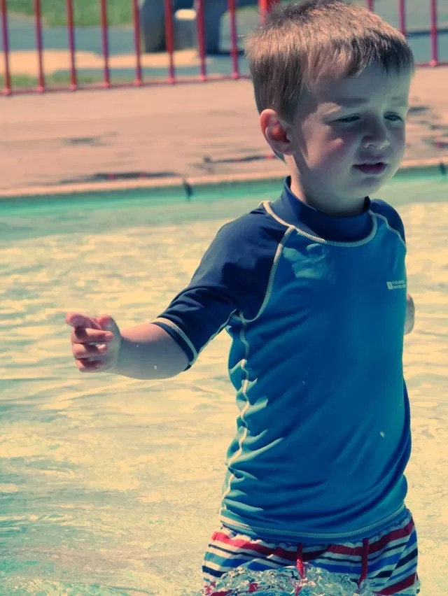 Striding in the paddling pool