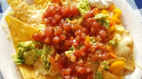 Super speedy, super easy healthier nachos