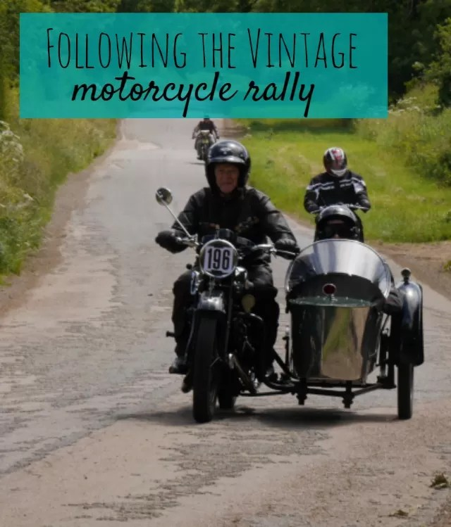 following the annual vintage motorcycle rally - Bubbablue and me