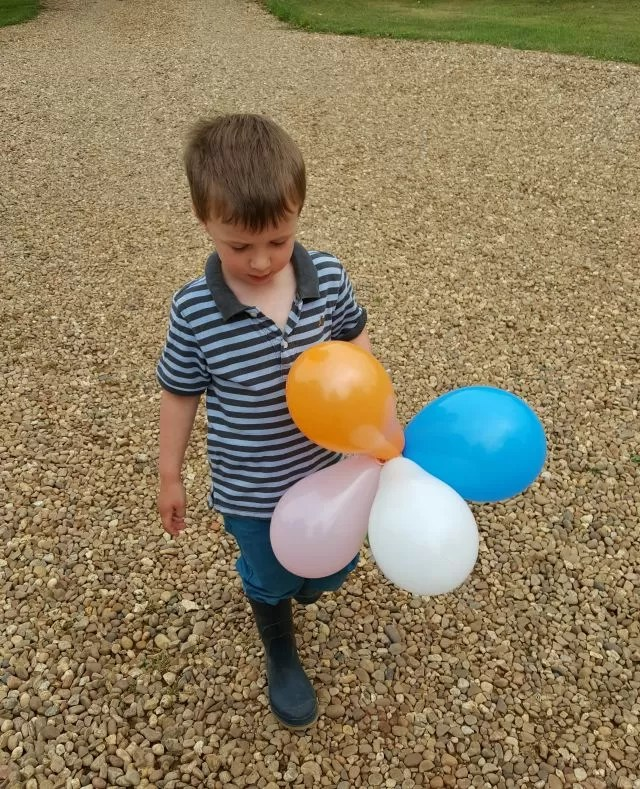 putting out the party balloons
