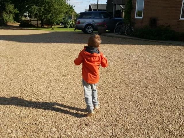 bouncing galloping child