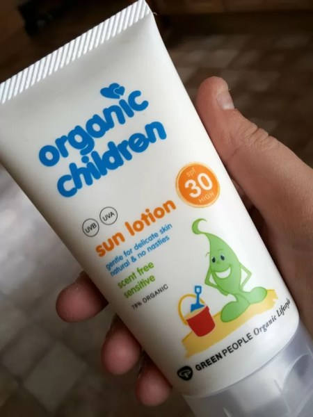 Green people sun lotion