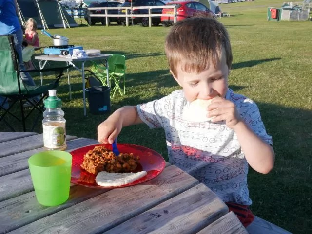 chilli tea at the campsite