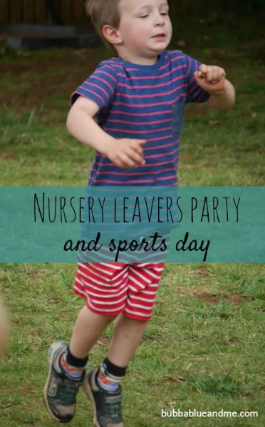sports day and leaving party from nursery school
