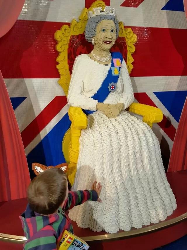 Lego Queen Elizabeth at Hamleys