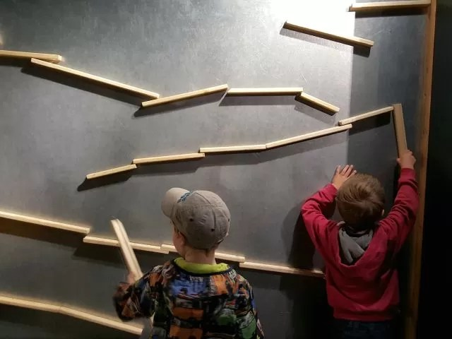 building a marble run - MAD museum