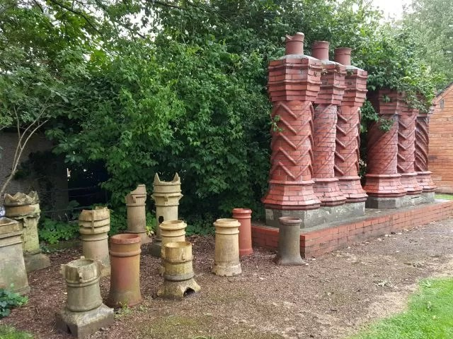 chimneys at Avoncroft Museum