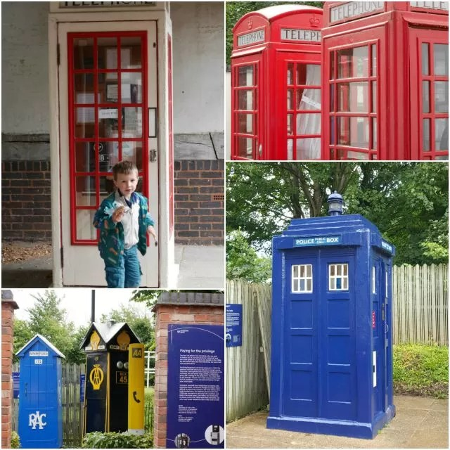 telephone boxes at Avoncroft Museum