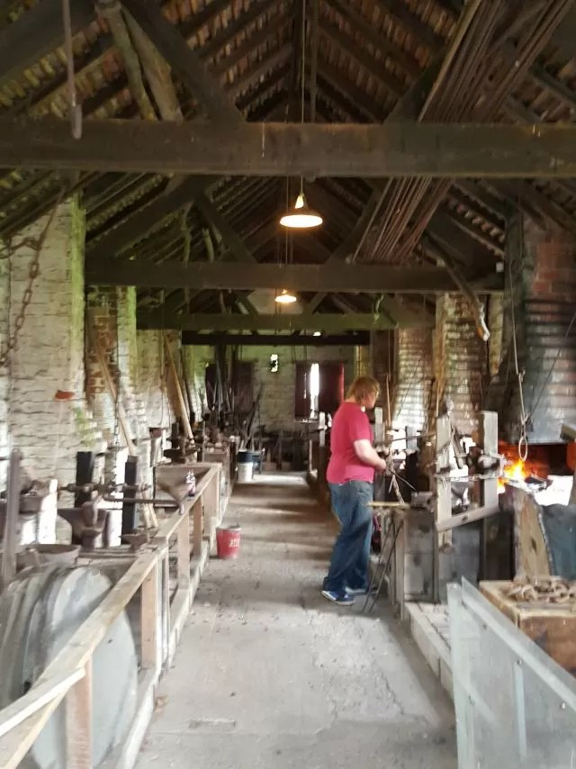 the forge at Avoncroft Museum
