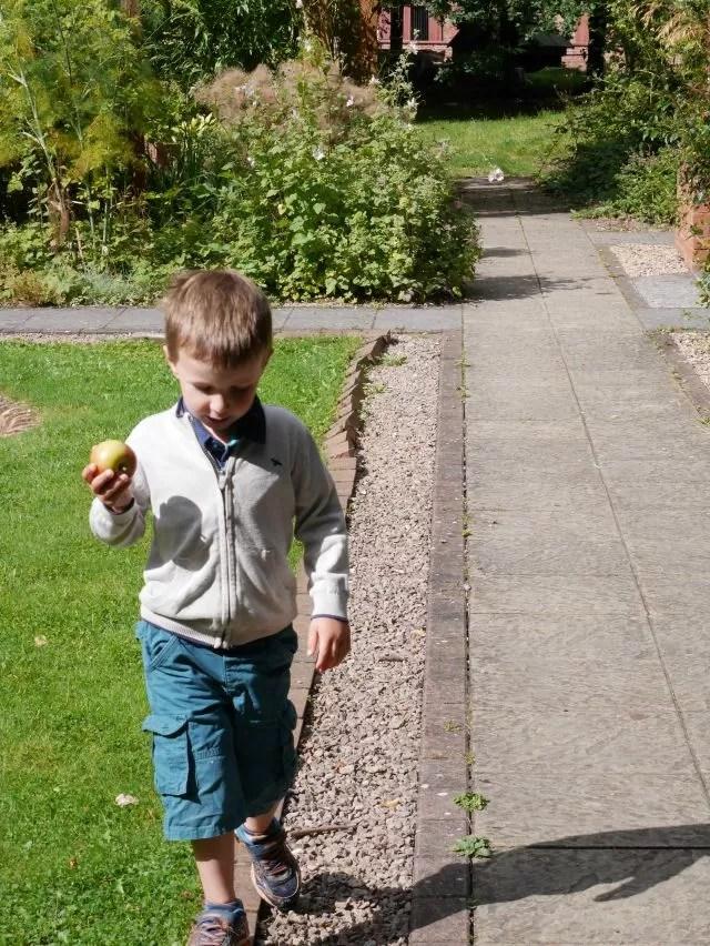 walking in the sensory garden at Avoncroft