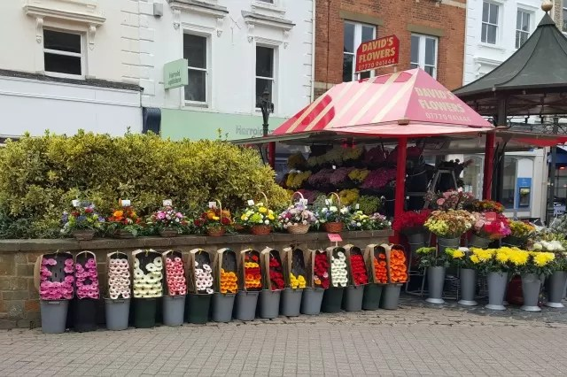 flower stall in Banbury