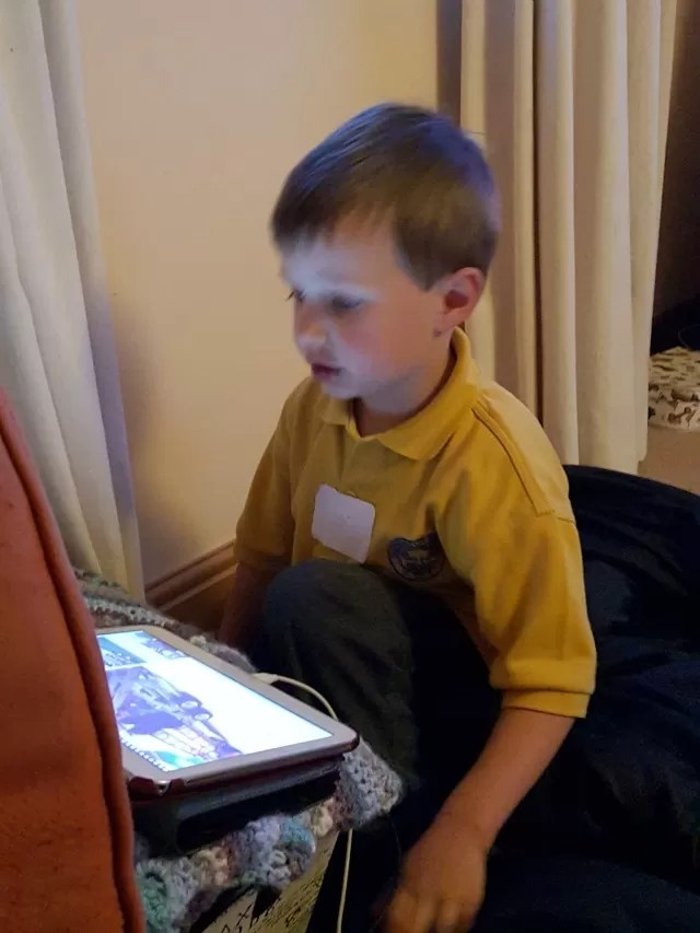 watching youtube in the evenings