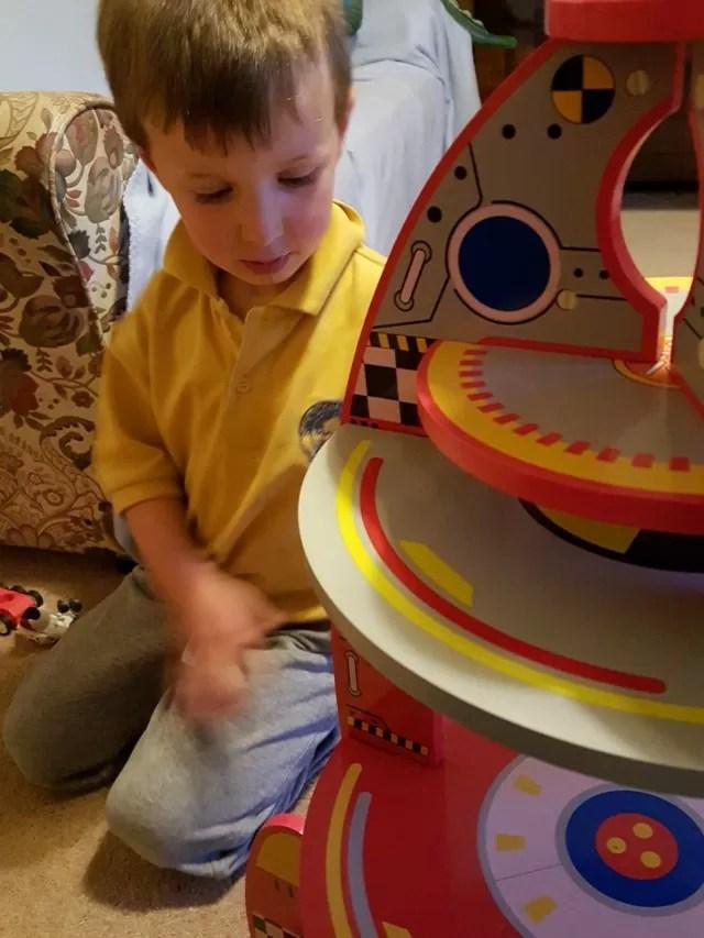 Asda wooden rocket toy