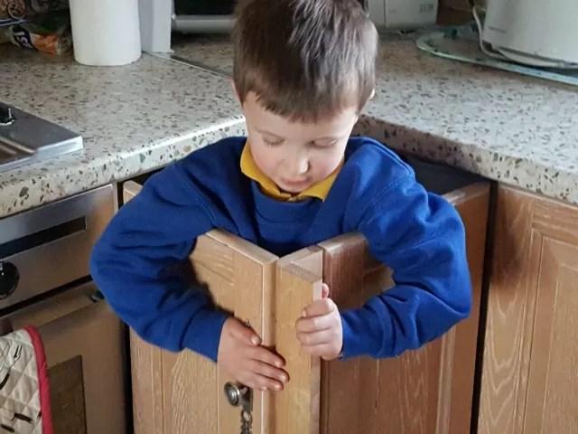 shut in the cupboard doors