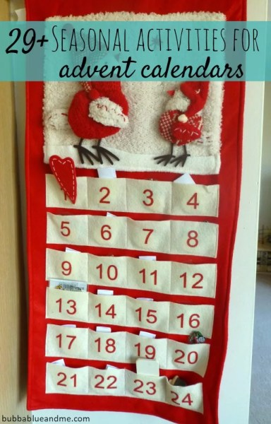 29+ seasonal activities for advent calendars - Bubbablue and me