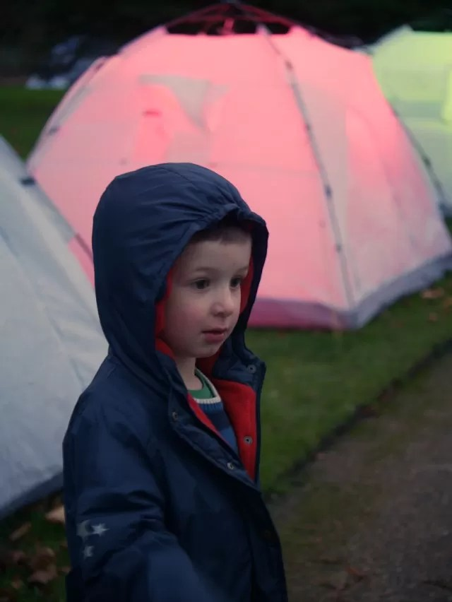 Bruce Monroe tent light installation